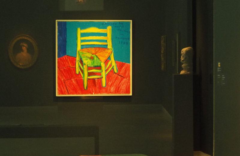 La chaise et la pipe de Vincent (1988) in situ-Musée Angladon